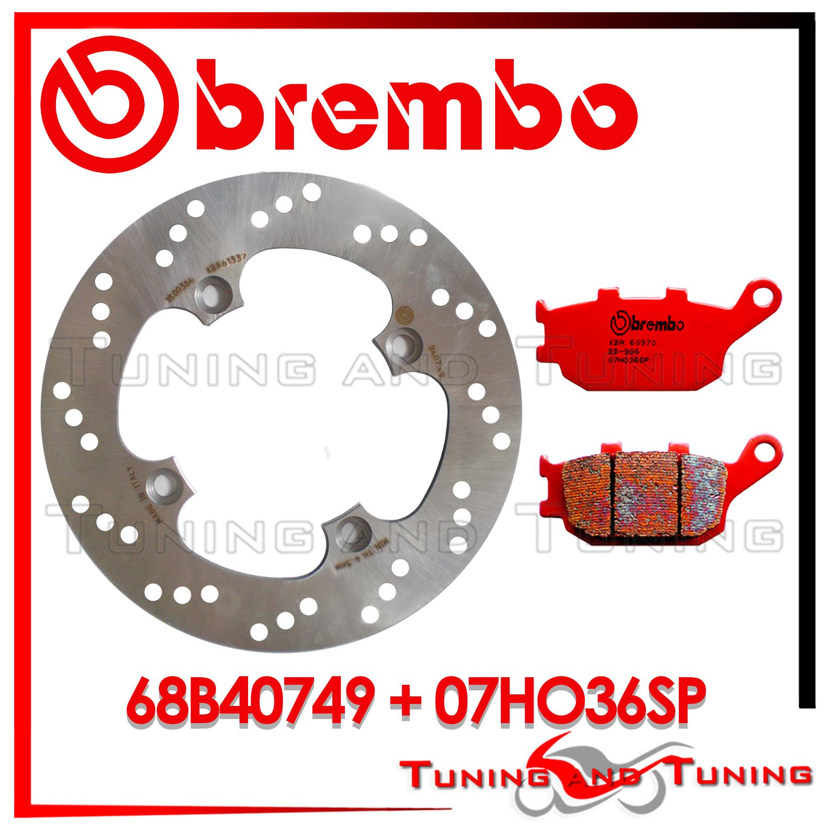 S 2004-600CC FISSO 68B40749 DISCO FRENO POSTERIORE BREMBO HONDA HORNET